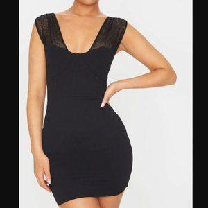 PrettyLittleThing Dresses - NWT – Mesh Corset Detail Bodycon Dress
